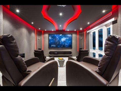תכנון אדריכלי לבית קולנוע פרטי