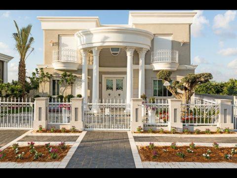תכנון בית פרטי לוילה מפוארת וגבוהה