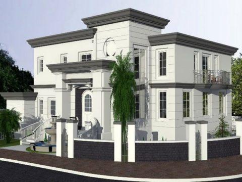 הדמייה של אדריכלות יוקרה לבית משפחת חמו