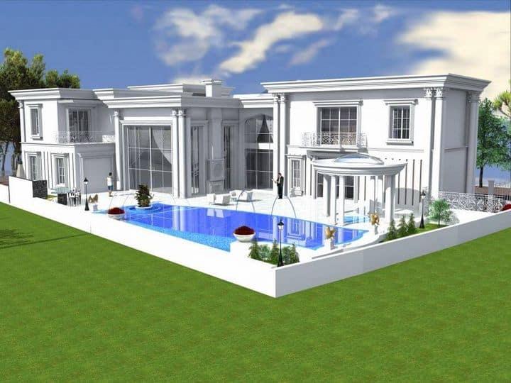 אדריכלות במרכז לבית פרטים יוקרתי מושקע ומפואר