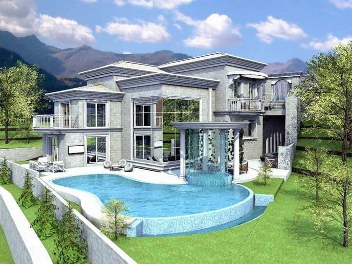 תכנון אדריכלי ירוק לבית פרטי מפואר
