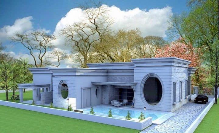 הדמייה של בית במושב צרופה בעיצוב מודרני