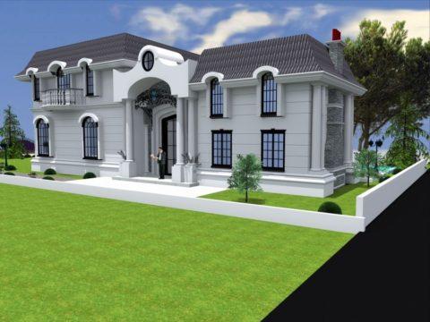 תכנון אדריכלי בתים פרטיים בסגנון מודרני לבית יוקרתי