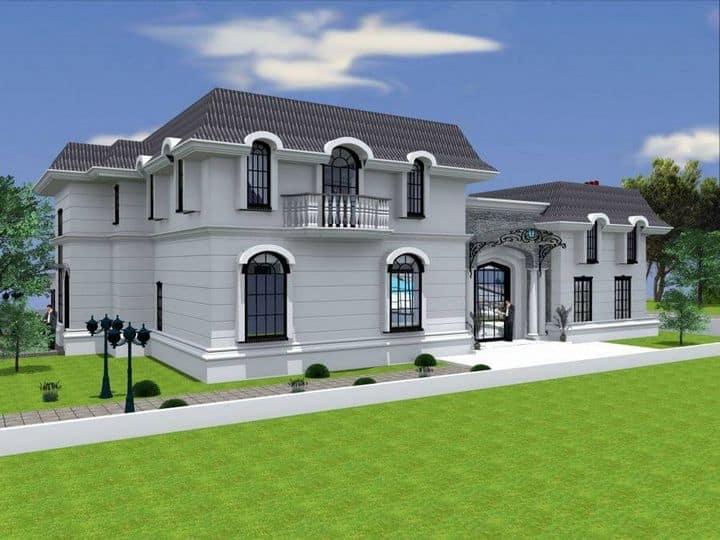 חזית פרויקט של תכנון אדריכלי