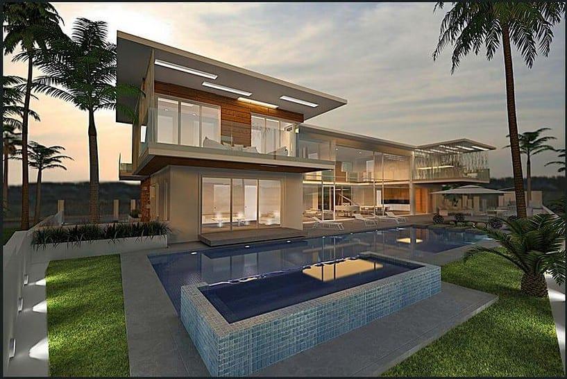 תכנון אדריכלי לבית ענק ויוקרתי
