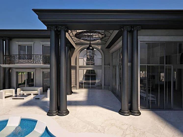 תכנון ארכיטקט לכניסה בסגנון קלאסי