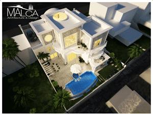 תכנון אדריכלי מודרני לבית במרכז של מלכה אדריכלים