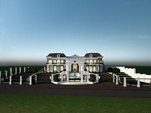 הדמייה אדריכלית לבית פרטי במרכז