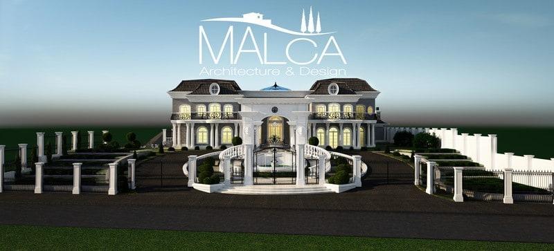 אחוזה בתכנון אדריכלי של מלכה אדריכלים - אדריכלי יוקרה