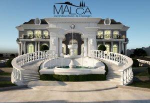 כניסה לבית עם גרמי מדרגות בתכנון אדריכלי של מלכה אדריכלים
