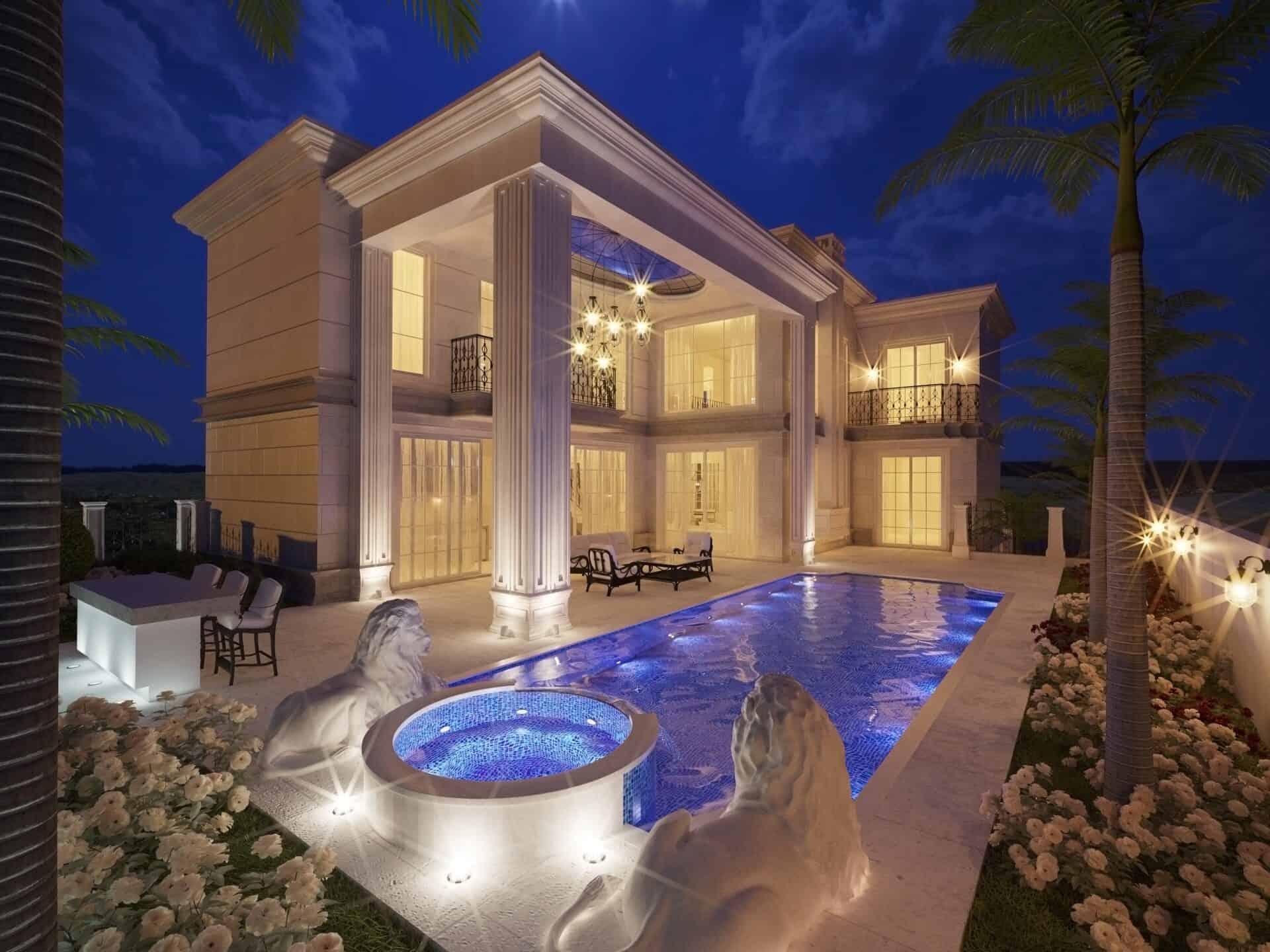 בית פרטי בתכנון אדריכלי של מלכה